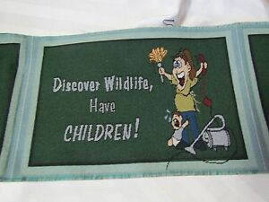 Discover Wildlife Have Children crazy mom baby Tapestry Fabric Pillow top Panels