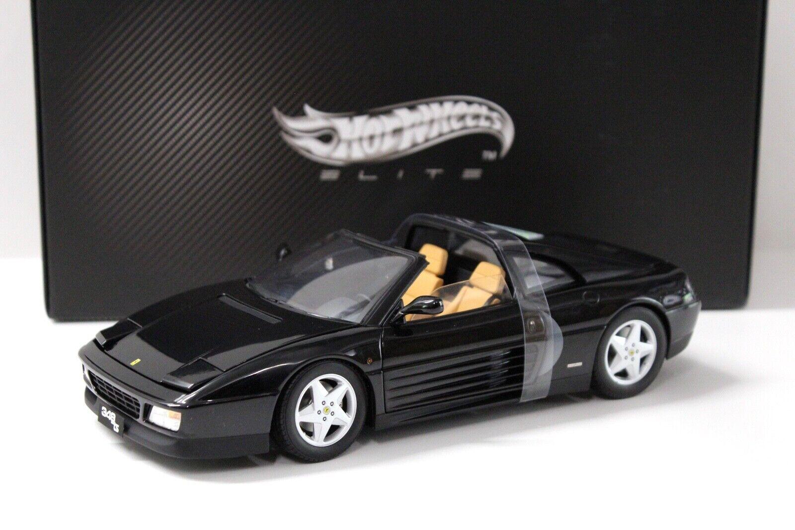 caliente Ferrari 348 TS negro negro negro nuevo con modelo coches 1 18 elite  toma