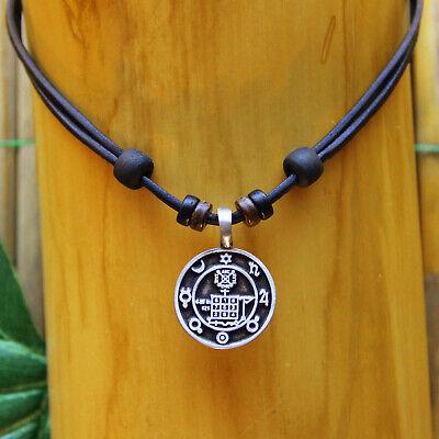 Clever Lederkette Talisman Glückssymbol Glücks Amulett Halskette Herren Damen Kette