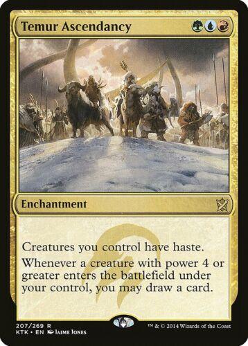 Temur Ascendancy Khans of Tarkir PLD Blue Red Green Rare MAGIC CARD ABUGames
