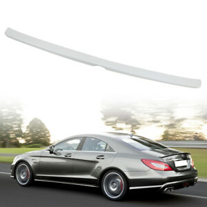 Painted for Mercedes Benz CLS W218 4D Sedan A Type Spoiler Trunk Boot 775 Silver