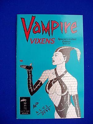 Vampire Vixens 1;  Horror bad-girl  comic.  numbered. signed. VFN+