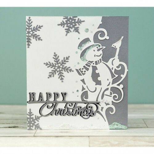 9 Styles Merry Christmas Metal Cutting Dies Scrapbooking Edge Border Paper Craft
