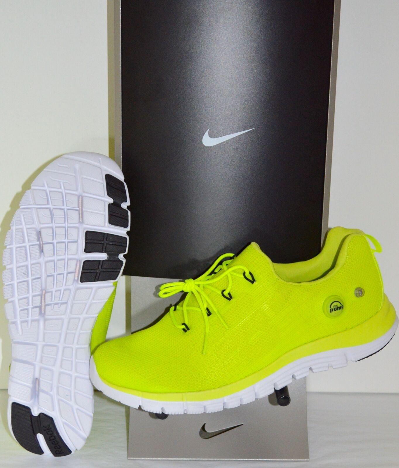 New Reebok ZPUMP PU Solar Yellow/Neon White Pump Shoes xpump Running