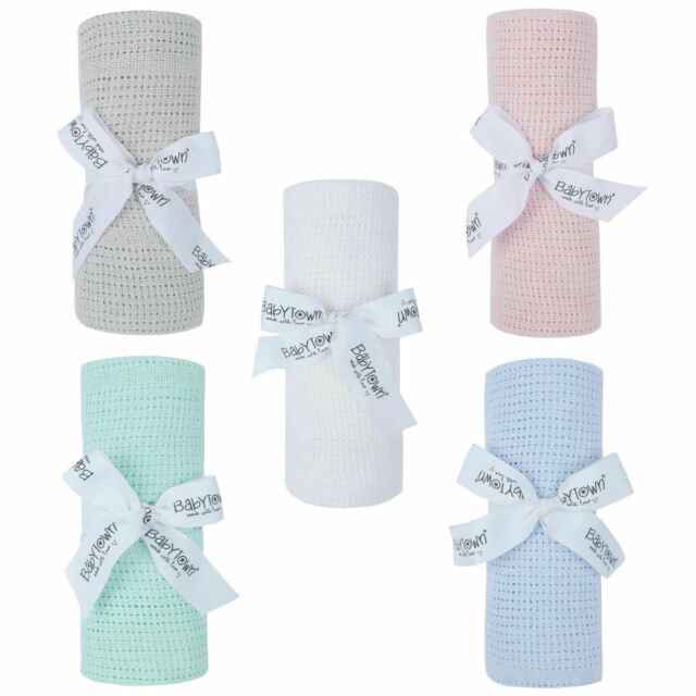Baby Girl Boy Unisex Soft Cotton Wrap Blanket Pram Cot Crib Moses Basket LA