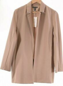 Eileen Fisher NWT Drapey Notch Collar Blazer Size Medium in Bramble/Tan $298