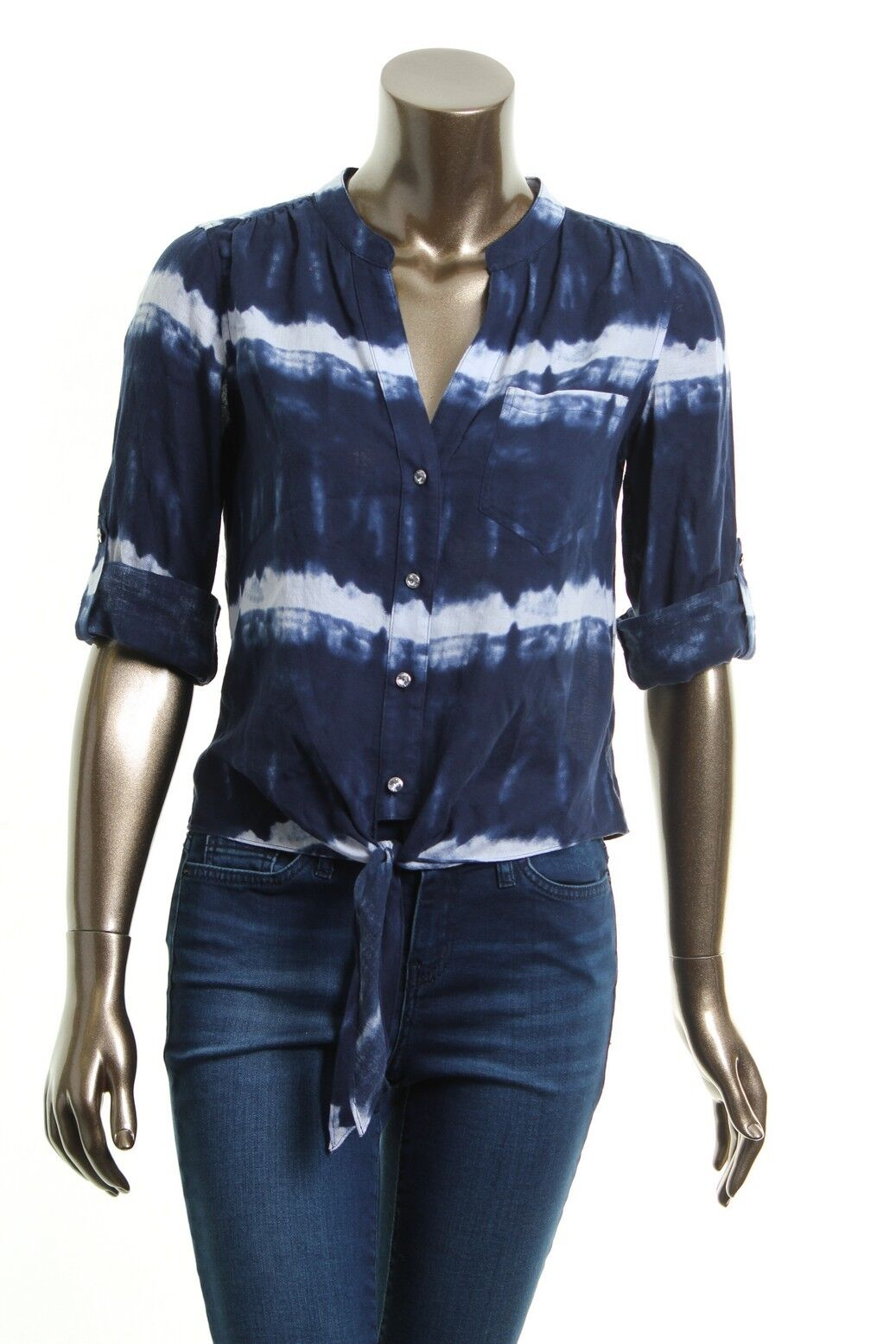 INC NEW Navy bluee Women's 100% Linen Button Down Shirt or Tye & Die Top 6
