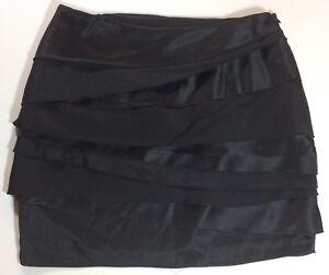 NWOT-Karen-Millen-Silk-Blend-Tiered-Mini-Skirt-Size-US-4
