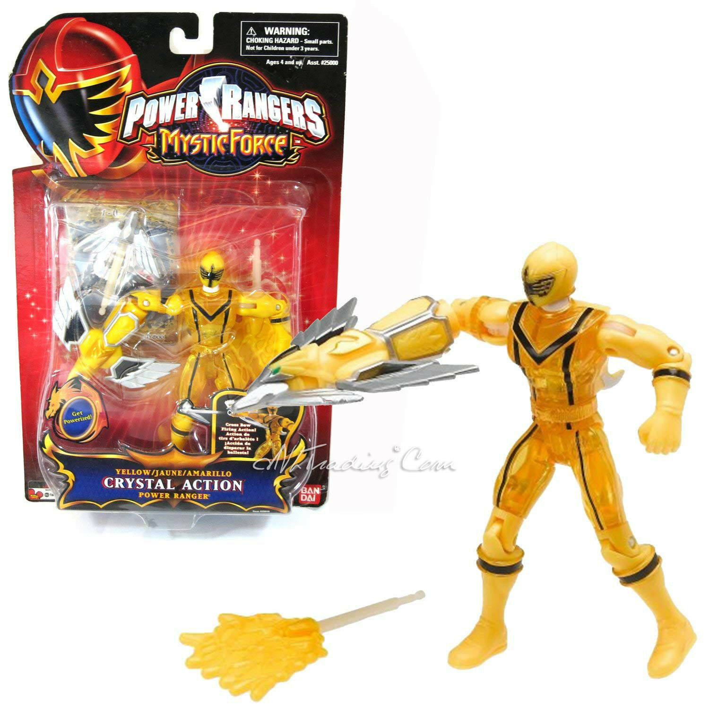 NEW Power Rangers Mystic Mystic Mystic Force 5.5  Figure CRYSTAL ACTION YELLOW POWER RANGER a5004d