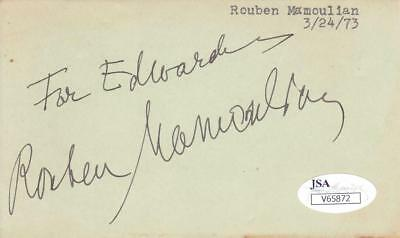 "Frugal Rouben Mamoulian D.1987 Signed ""for Edward"" Album Page Director/oklahoma Jsa Distinctive For Its Traditional Properties Autographs-original"