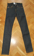 """BNWT WeSC Alessandro para hombres niños crudo Super Delgado Pierna Jeans Ajustados Cintura Baja 25"""" X 32"""""""