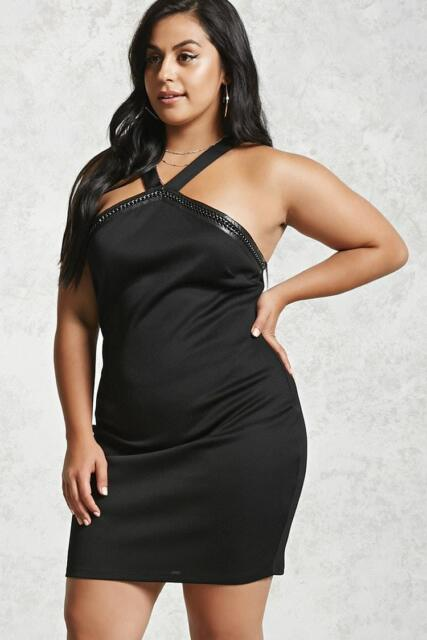 Forever 21 Plus Size Black Bodycon Dress 2X