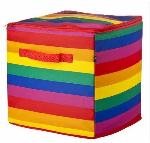 Vigar Arc en ciel à rayures Multipurpose zippé Rangement Cube: JOUETS Blanchisserie vêtements