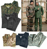 Regenanzug Army-Style S-4XL PVC Regenjacke Regenhose Regenkombi tarn Nässeschutz