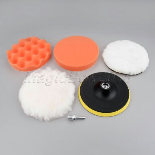 "6Pcs 6/"" M14 Sponge Waxing Buffing Polishing Pad Kit with Drill Adapter"