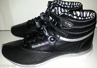 Reebok Classic Freestyle Easytone High Top Workout Black Shoes Womens