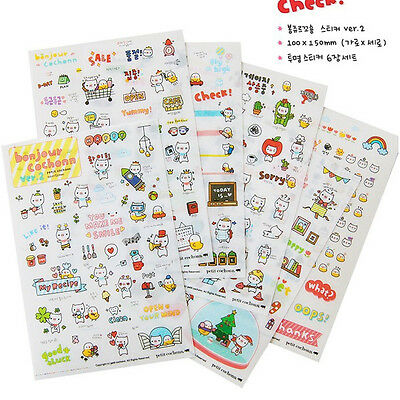 Creative Decoration Stickers Korea Stationery Cat Decoration for Diary Notebook