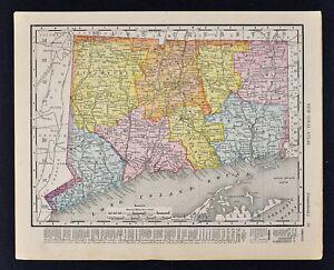 1911 McNally Index Map - Connecticut New Haven Hartford Waterbury ...