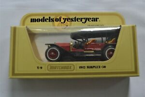 VINTAGE-Matchbox-1973-MODELLI-D-039-ANTAN-Y-13-1918-Crossley-034-carbone-e-coke-034