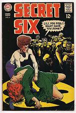 Silver Age SECRET SIX #6 1969 BLACK COVER F+