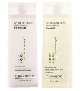 GIOVANNI-Tea-Tree-TRIPLO-Treat-Energizzante-Shampoo-amp-Balsamo-250ml-ogni
