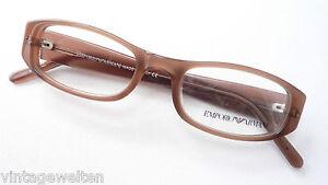 Armani Kunststoffbrille Damen Designer Brillen Naturbraun Kleine Form Grosse S Ebay