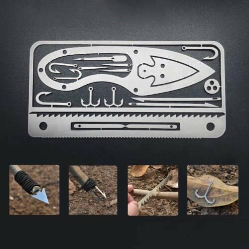 Multifunktions Camping Survival Tool Angeln Hook Card Hunting Emergency Tike
