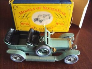 MATCHBOX-Models-OF-YESTERYEAR-No-15-Y-15-A-1907-ROLLS-ROYCE-SILVER-GHOST-IN-SCATOLA