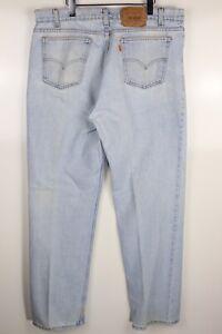 Vintage-Levi-039-s-517-38x34-Orange-Tab-Distressed-Light-Wash-Denim-Blue-Jeans-USA