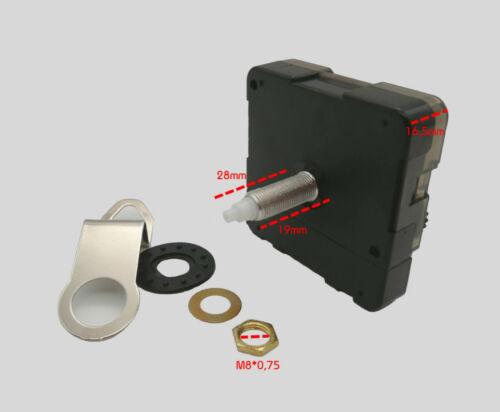 Quarz Uhrwerk Zeigersatz 110 mm Alu lautlos 11 cm Uhrzeiger f Wanduhren leise