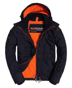 Kapuze Benzin Winddicht Jacke Mantel Superdry Zu Details Orange Herren Arktischen 76gvbfYy