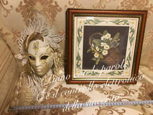 Italy Painting Wall Flower Ornament Venetian Mask Objects