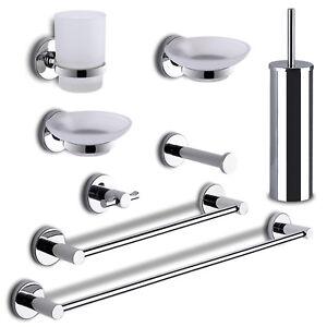 Kit accessori bagno 8 pezzi gedy Felce metallo cromo fissaggio senza ...