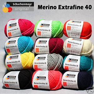 50g-5-90-100g-Schachenmayr-034-Merino-Extrafine-40-034-100-Schurwolle-stricken