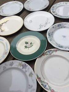 10-Vintage-Mismatched-Dessert-Plates-Wedding-Mad-Hatter-Shabby-Pink-Blue-192