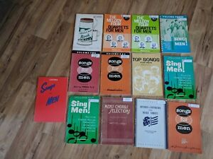 Lot-Of-13-Vintage-For-Men-Church-Hymnal-Music-Hymn-Books