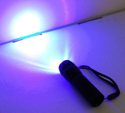 HQRP DEL Ultra Violet UV Lumière Zoomable Zoom Torche Lampe de Poche Camping Randonnée