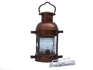 Antique-Copper-Anchor-Electric-Lantern-15-034