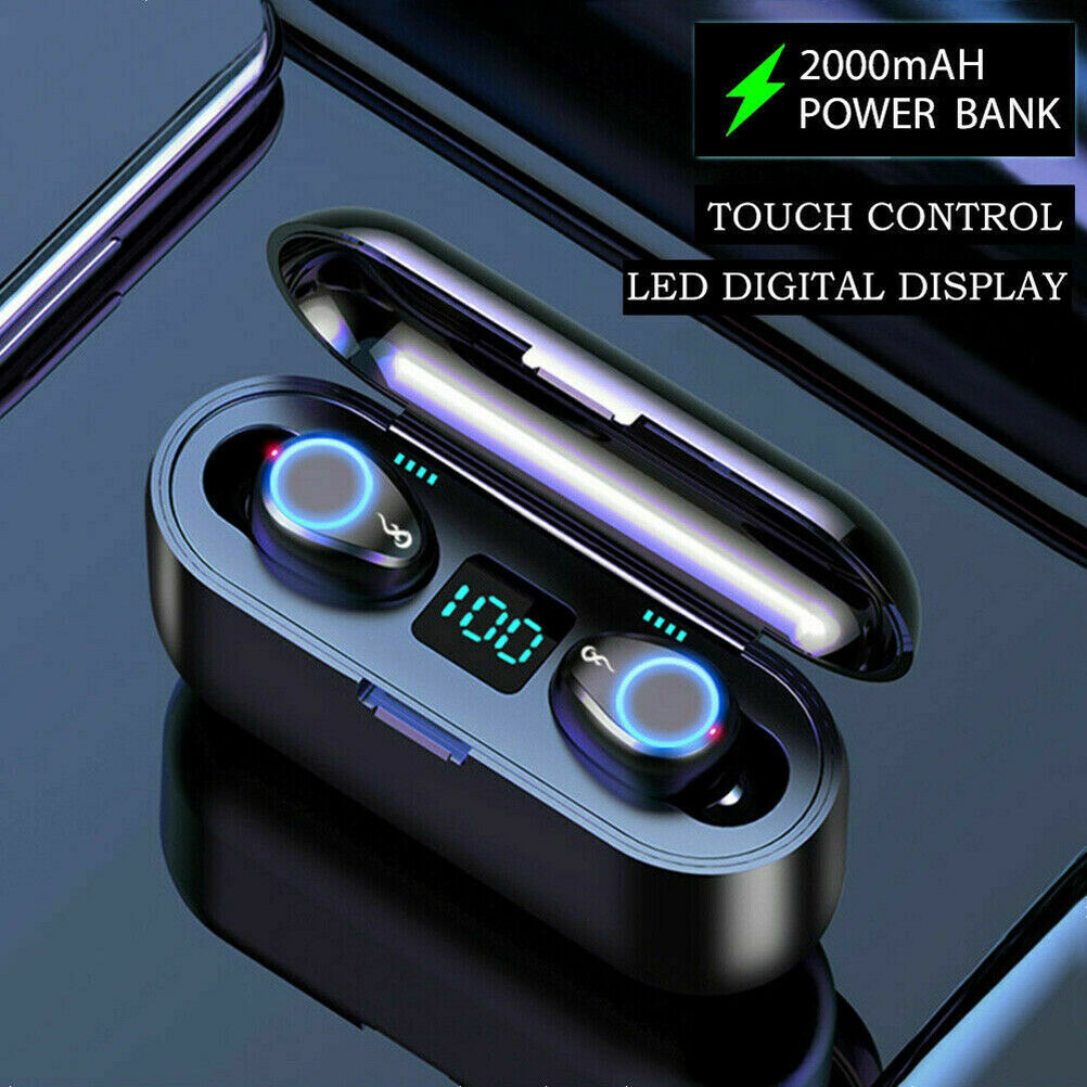 Bluetooth 5.0 Earphones Wireless Headphones Mini Earbuds Headset Waterproof TWS 2