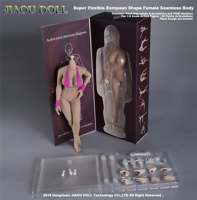 JIAOU DOLL 09F 1//6 Undetachable Big Bust Female Body For Phicen Hot Toys Figure