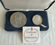 1974 CHURCHILL CENTENARY HM 2 SILVER PROOF MEDAL SET- by gregory & co
