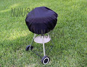 BBQ-Grill-Cover-w-drawstring-fits-Weber-One-Touch-Silver-22-5-034-amp-similar-round