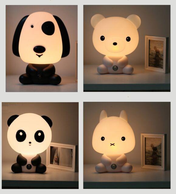 Lovely Baby Kids bedroom Night Light Bear Dog Cat Bunny Cartoon Animal Lamp