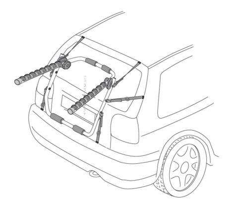 VDP Biki Fahrradträger für Opel Corsa E 3//5Tür ab 15 Heckträger 3 Fahrräder
