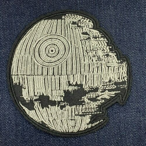 DEATH STAR STAR WARS IRON ON EMBROIDERED PATCH