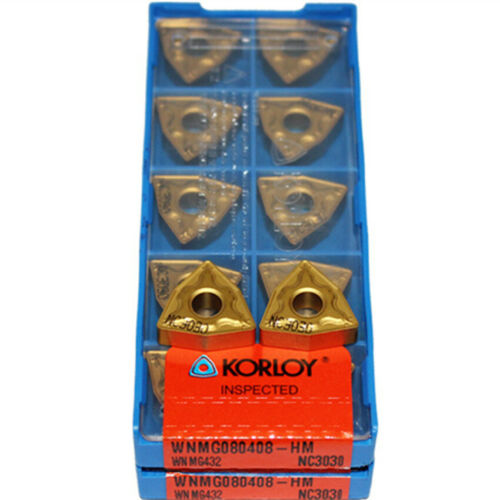 KORLOY WNMG080408-HM NC3030 WNMG432-HM NC3030  CNC Carbide Inserts 10Pcs New