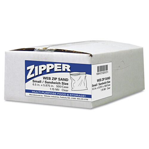 Handi-Bag Recloseable Zipper Seal Sandwich Bags 1.15mil 6.5 x 5.875 Clear 500