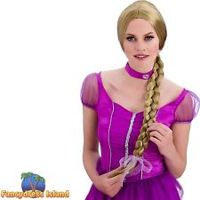 BLONDE SWEET PRINCESS RAPUNZEL LONG WIG womens ladies fancy dress costume
