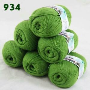 Sale-6-Skeins-x50g-LACE-Soft-Acrylic-Wool-Cashmere-Shawls-Hand-Knitting-Yarn-34