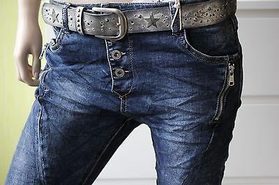 Dunkelblaue Herbst 2017 LEXXURY Boyfriend Baggy Jeans Hose 2 RV XS S M L XL *61